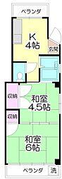 メゾン若竹[201号室]の間取り