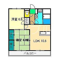 セゾンSAKAMOTOIII[1階]の間取り