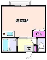 ハイツHARO2[2階]の間取り