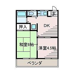新百合ハイツA棟[1階]の間取り