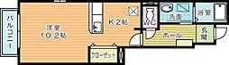 プリムローズ徳力新町A[1階]の間取り
