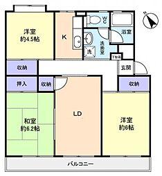 花見川ライオンズプラザ13号棟[5階]の間取り