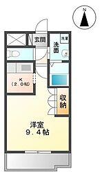 シェモア千日[2階]の間取り