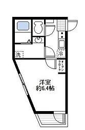 神奈川県横浜市西区浅間町2丁目の賃貸アパートの間取り