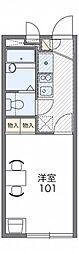 レオパレスエクセル厚木[3階]の間取り