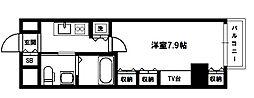レジュールアッシュPREMIUM TWIN-1[7階]の間取り
