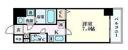 Osaka Metro谷町線 谷町九丁目駅 徒歩4分の賃貸マンション 3階1Kの間取り