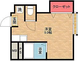 住之江コート[4階]の間取り