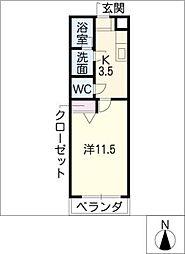 HANAYASHIKI[2階]の間取り