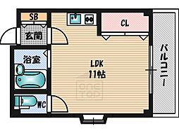 シャンティJKKI[205号室]の間取り