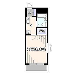 東京都東久留米市本町3丁目の賃貸アパートの間取り