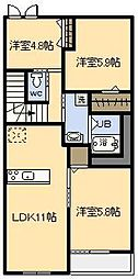 (新築)フェアリー[203号室]の間取り