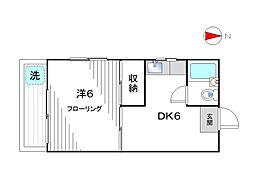 中村マンション[102号室]の間取り