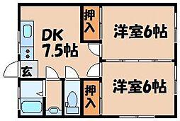 児玉ハウジング[2階]の間取り