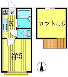 セードルエイキ[1階]の間取り