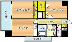 デザイナープリンセス・中津口[2階]の間取り