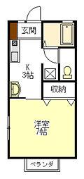 ルイーズ21[1階]の間取り