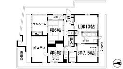 [一戸建] 兵庫県川西市花屋敷1丁目 の賃貸【/】の間取り