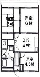 静岡県静岡市葵区羽鳥7丁目の賃貸アパートの間取り