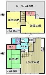 アーク・氷川台[4階]の間取り