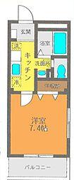 神奈川県茅ヶ崎市南湖1丁目の賃貸アパートの間取り