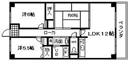 エテルノン泉佐野[8階]の間取り