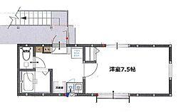 神奈川県厚木市泉町の賃貸アパートの間取り