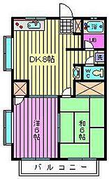 埼玉県さいたま市大宮区桜木町3丁目の賃貸アパートの間取り