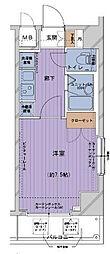 東京都千代田区内神田3丁目の賃貸マンションの間取り