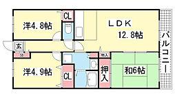 プランドール兵庫駅南通[503号室]の間取り