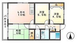 サウスビレッジ[2階]の間取り