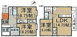 [一戸建] 埼玉県川口市桜町3丁目 の賃貸【/】の間取り