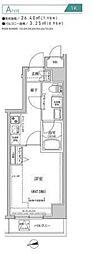 都営新宿線 住吉駅 徒歩10分の賃貸マンション 2階1Kの間取り