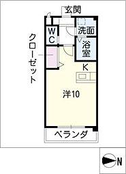 Excel Court 櫻[2階]の間取り