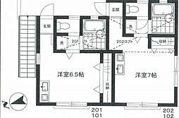 JR山手線 恵比寿駅 徒歩10分の賃貸アパート 1階ワンルームの間取り