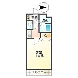 亀山マンション[A205号室]の間取り