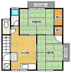 山本荘アパート[201号室]の間取り