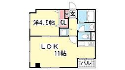 サンビルダー新神戸Ⅱ[2階]の間取り