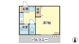 KAGA HOUSE[201号室]の間取り