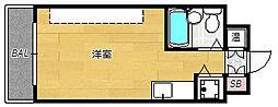 ロマネスク天神アネックス[8階]の間取り