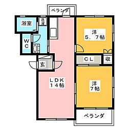 アトゥーレS・N[2階]の間取り