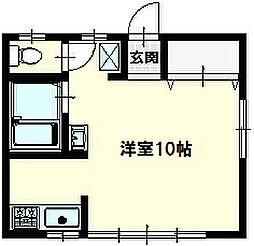 谷津ハイツII1階Fの間取り画像