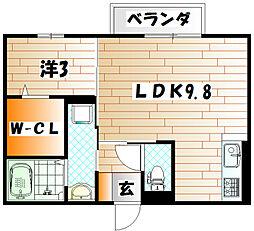 コモド・カーサ[2階]の間取り