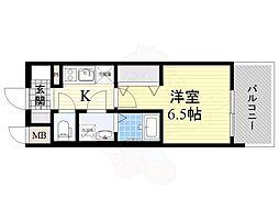 レジュールアッシュ淡路駅前 3階1Kの間取り