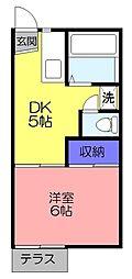 メゾン勝田台B棟[101号室]の間取り