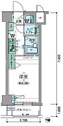 リヴシティ横濱新川町[2階]の間取り