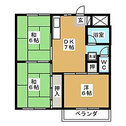 八事中央ビル[4階]の間取り