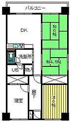 宮崎県宮崎市下原町の賃貸アパートの間取り
