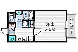 大阪府大阪市北区天満4丁目の賃貸マンションの間取り