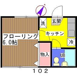メゾン21[102号室]の間取り